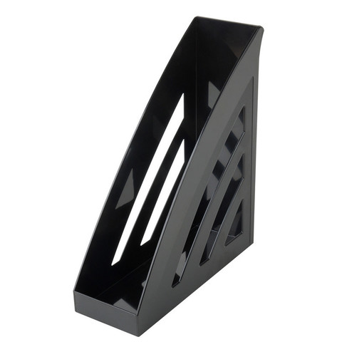 Вертикальный накопитель Attache City пластиковый черный ширина 90 мм