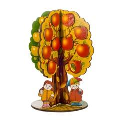 Обучающая деревянная игрушка Яблоня, Времена года