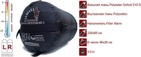 Спальный мешок INDIANA Traveller Extreme L, схема.