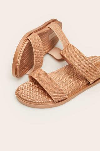 Відкриті сандалі з блиском