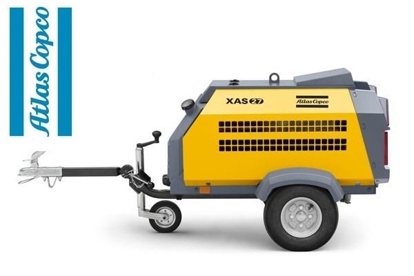 Компрессор дизельный Atlas Copco XAS 27 на дорожном шасси