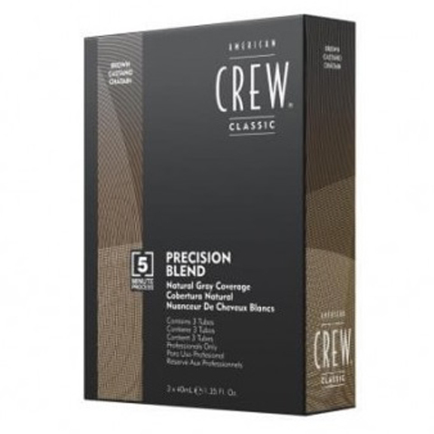 American Crew Precision Blend: Камуфляж для седых волос - средний натуральный тон 4-5 (Natural Gray Coverage Gray Brown), 3*40мл