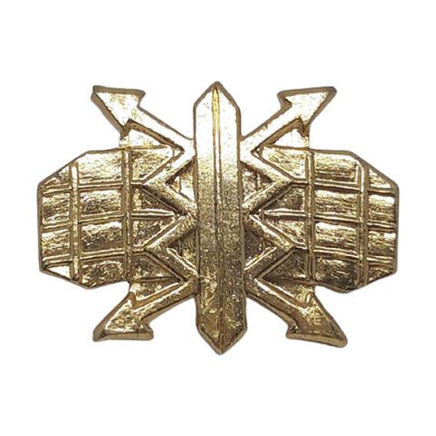 Эмблема петличная РТВ ВВС, металл. золотая