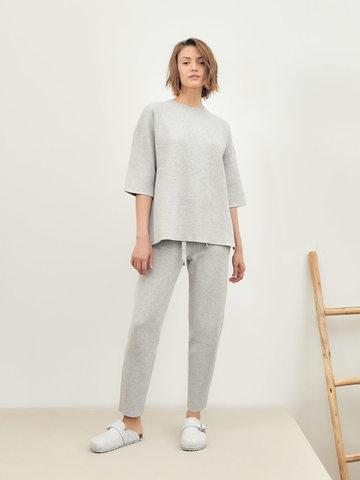 Женские брюки серого цвета из вискозы - фото 5
