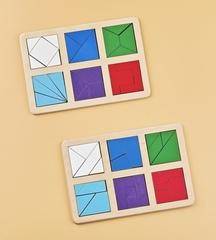 Логическая игра Сложи квадрат Б.П. Никитин уровень 2