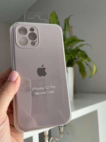 iPhone 12 (6.1) Silicone Case Full Camera /lavender/