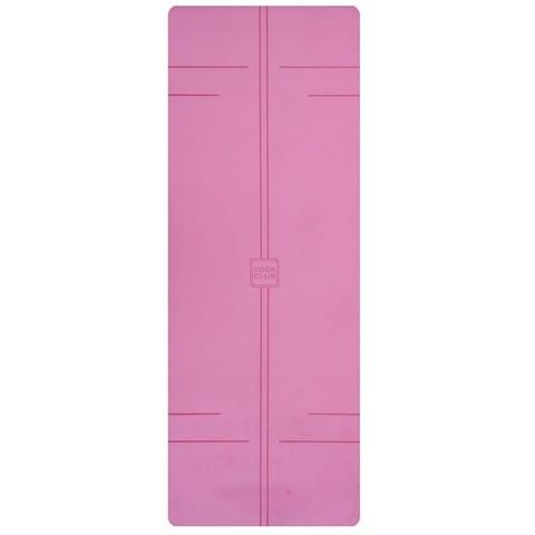 Каучуковый йога коврик YC Pink c разметкой 185*68*4,5 см