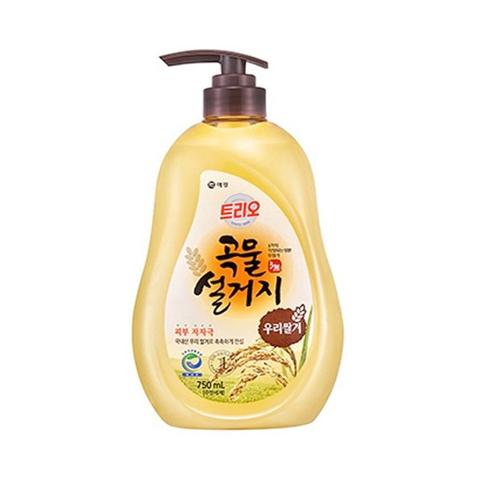 Aekyung Trio Rice Bran Средство для мытья посуды Рисовые отруби 750 мл с помпой-дозатором
