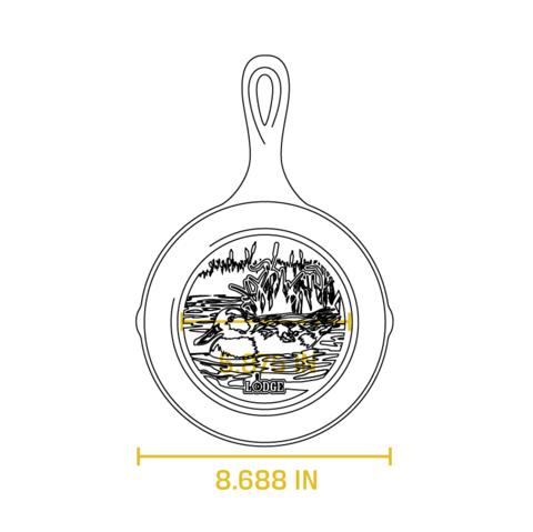 Сковорода чугунная  с лого Утка, артикул L5SKWLDK