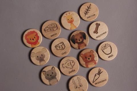 Деревянные фишки - мемори