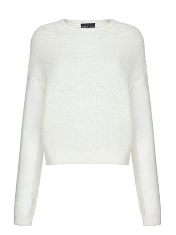 Женский джемпер белого цвета из мохера и шерсти - фото 1