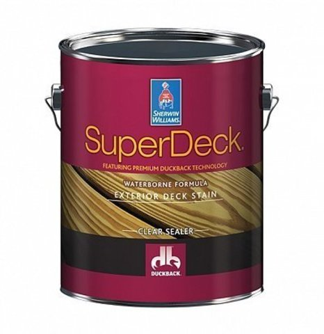 Super Deck Exterior Waterborne Clear Sealer пропитка галлон