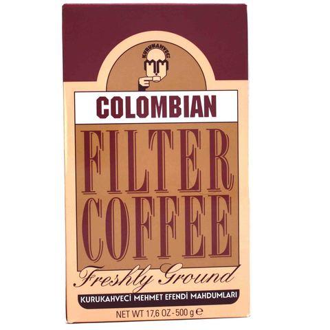 Турецкий кофе молотый Colombian Filter Coffee, Mehmet Efendi, 500 г