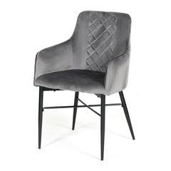 Кресло FORZA (mod.5175-2) металл/вельвет, серый/черный