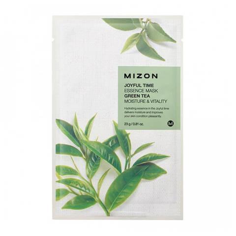 Mizon Тканевая маска с зеленым чаем Joyful Time Essence Mask Green Tea, 1 шт