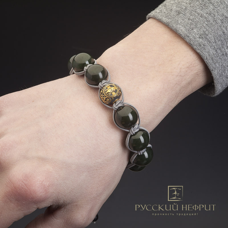 Мужской православный браслет на руку.