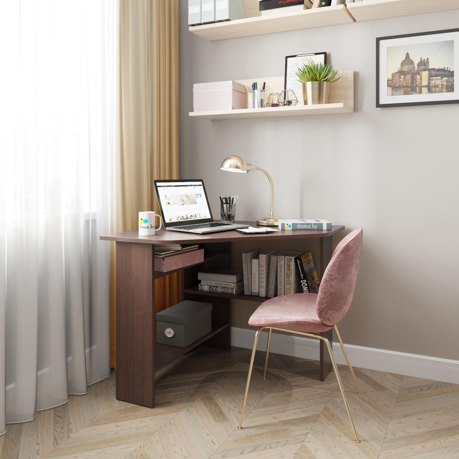 Угловой письменный стол ДОМУС СП011 венге