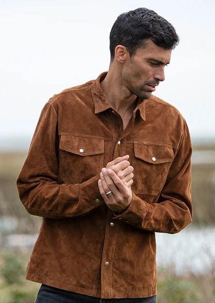 Рубашка из замши Bradleys