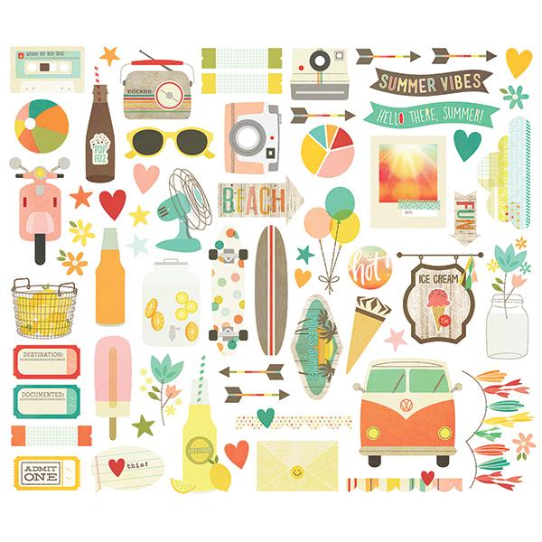 Высечки  Summer Vibes by Simple Stories