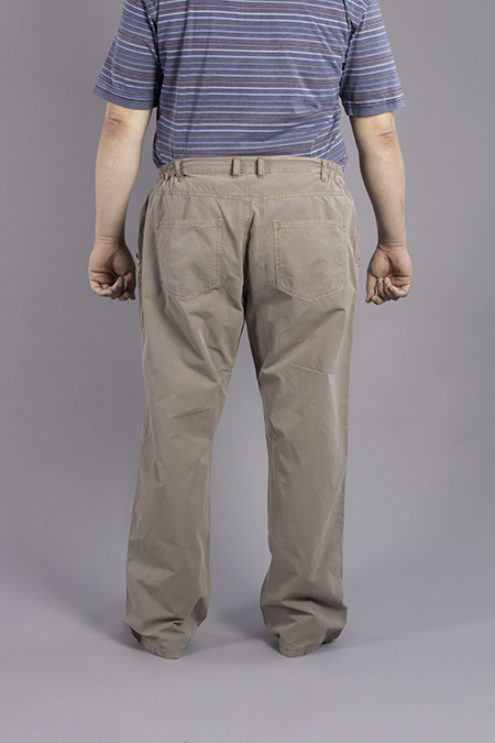 Лекала мужских брюк вид сзади