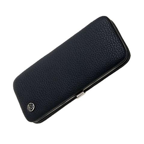 Маникюрный набор GD, 5 предметов, цвет черный, кожаный футляр