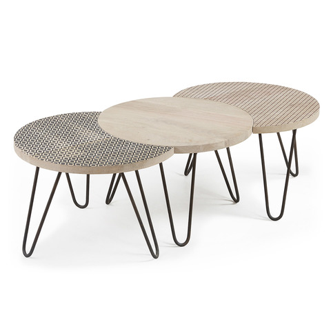 Набор 3х кофейных столиков Hoss