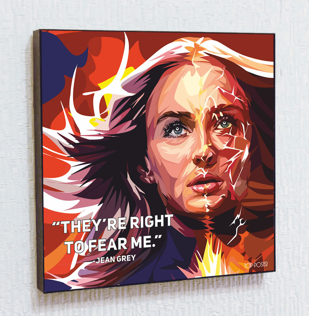 Картина Джин Грей (Феникс) в стиле ПОП-АРТ