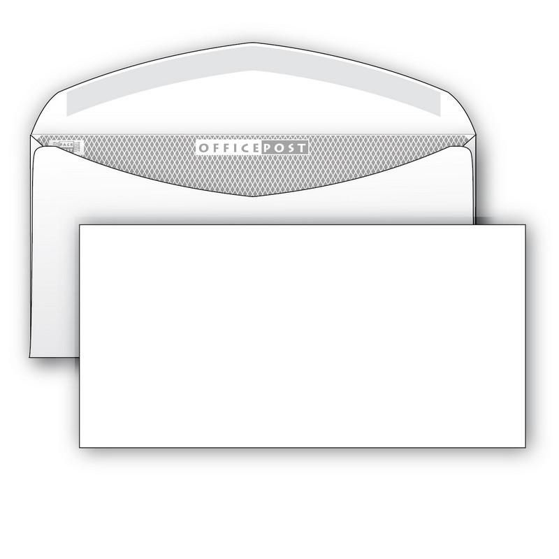 Конверт OfficePost E65 80 г/кв.м белый декстрин с внутренней запечаткой (1000 штук в упаковке)