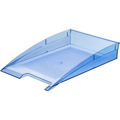 Лоток для бумаг горизонтальный Attache City прозрачный синий