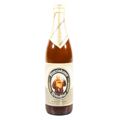 Franziskaner Weissbier / Францисканер Вайсбир (пшеничное светлое пастеризованное нефильтрованное)