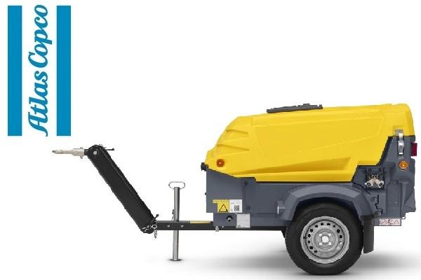 Компрессор дизельный Atlas Copco XAS 37 на шасси с регулируемым дышлом