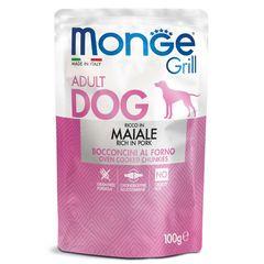 Паучи для собак Monge Dog Grill свинина