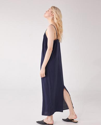 Платье- Комбинация, цвет темно- синий