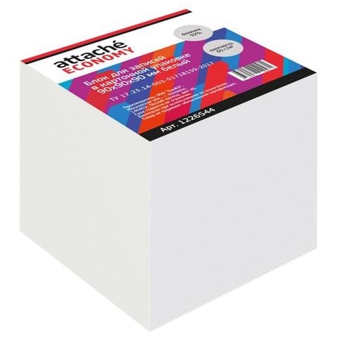 Блок для записей в подставке Attache Economy 9х9х9, белый,65 г, 92