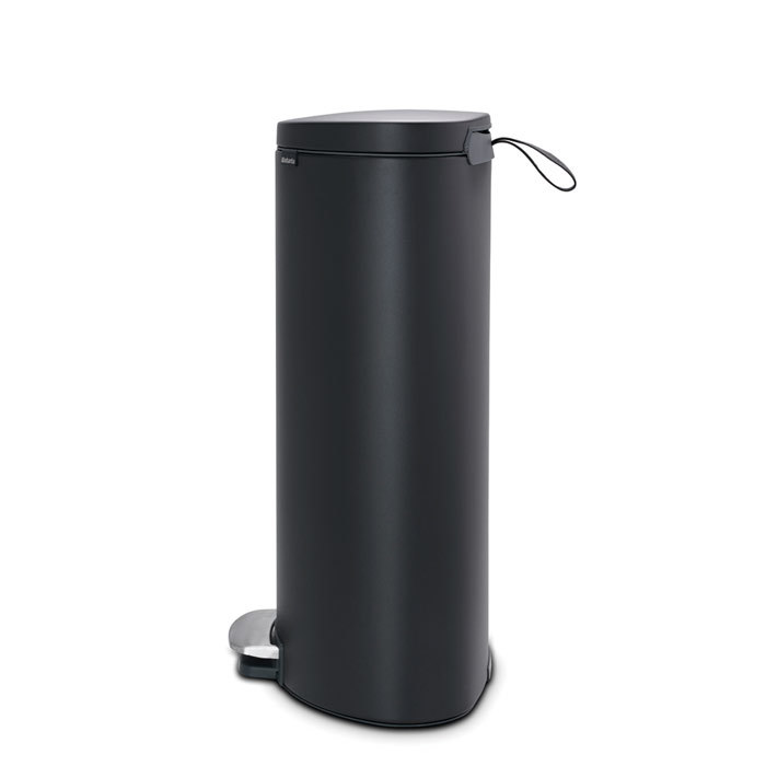 Мусорный бак FlatBack+ (30 л), Минерально-графитовый, арт. 119545 - фото 1
