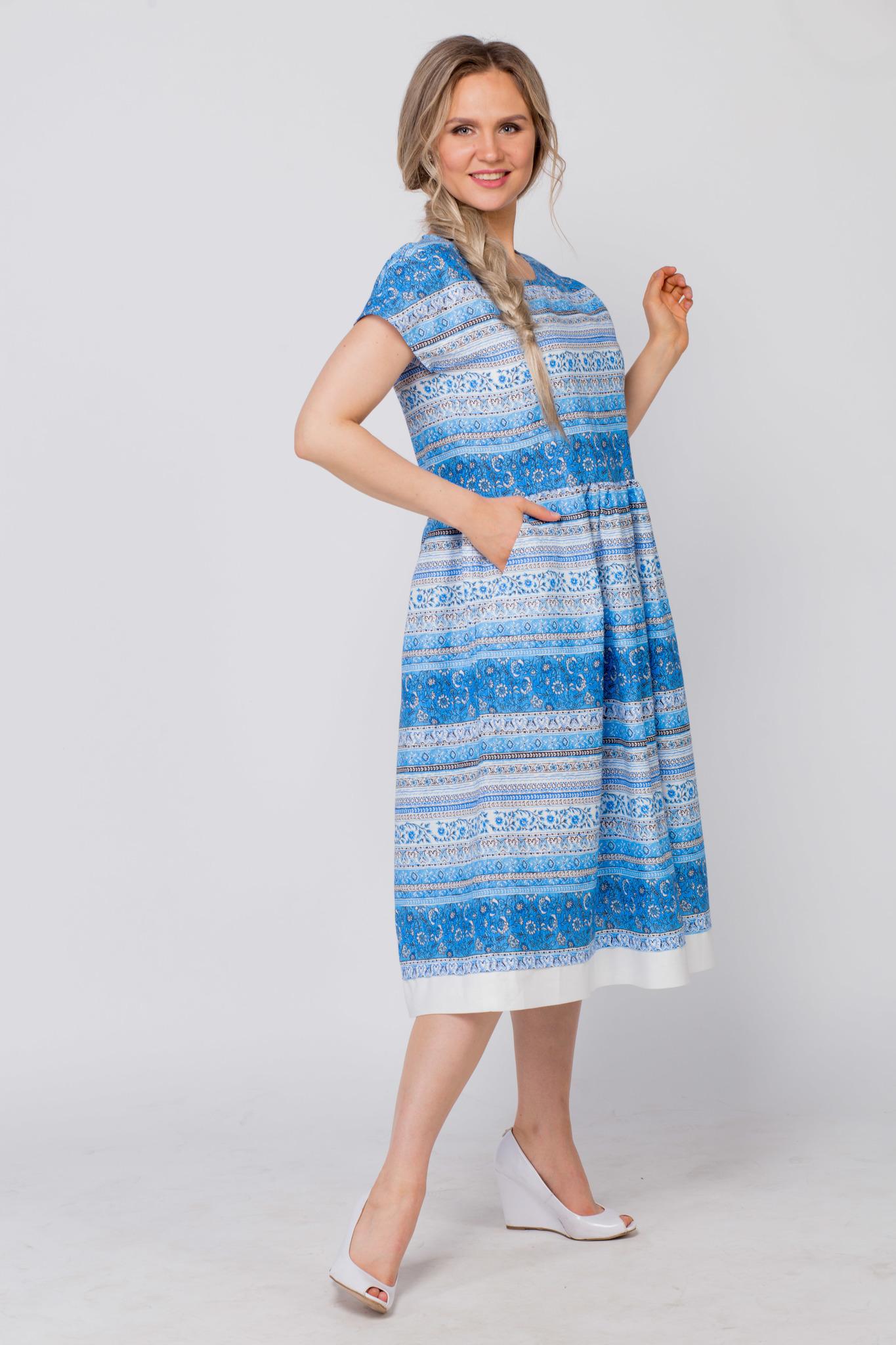 Платье Летний сон вид сбоку с карманами