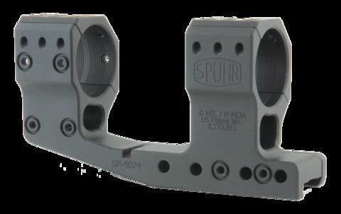 Тактический кронштейн SPUHR D34мм на Picatinny, H48мм, с выносом, без наклона (SP-4024)