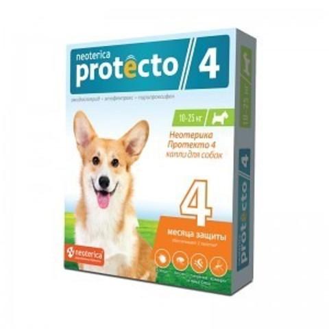 Протекто (Protecto) капли для собак 10-25 кг.