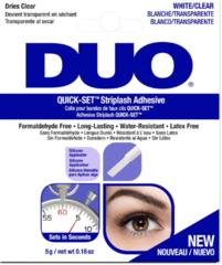 DUO Quick-Set Striplash Adhesive Clear быстросохнущий бесцветный клей для накладных ресниц 5г