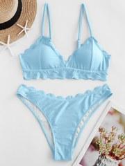 купальник раздельный голубой с лямками и чашечками 1