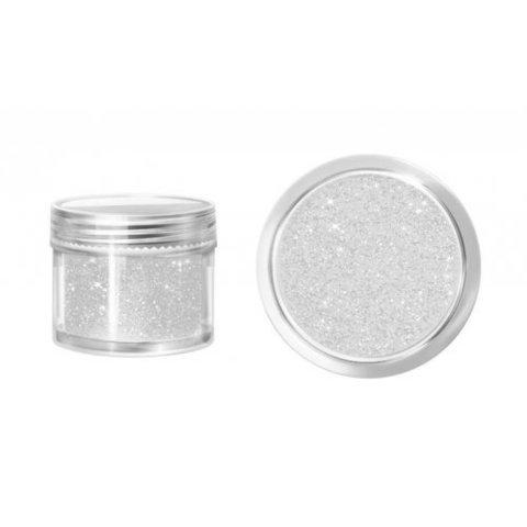 Блестки в банке 3 гр мелкие  голографическое серебро