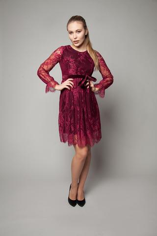 Платье вечернее из гипюра с кружевами недорого