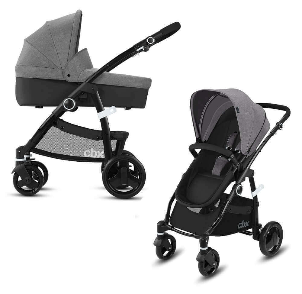 CBX by Cybex Leotie Pure 2 в 1 Детская коляска 2 в 1 CBX by Cybex Leotie Pure Comfy Grey CBX_18_y090_LEOTIE_PURE_GREY_WITHCARRYCOT_0335_DERV_HQ.jpg