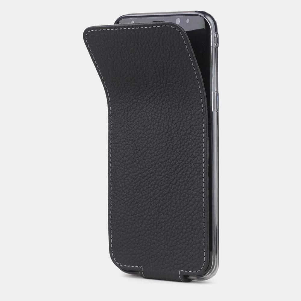 Чехол для Samsung Galaxy S8 из натуральной кожи теленка, цвета черный мат