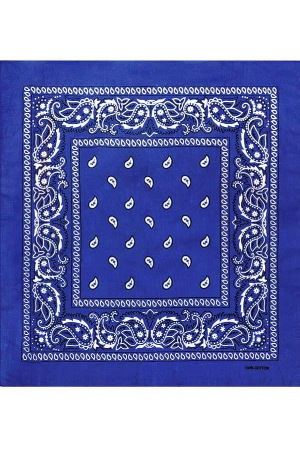 Синяя бандана фото