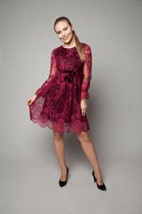 Платье вечернее из гипюра с кружевами купить