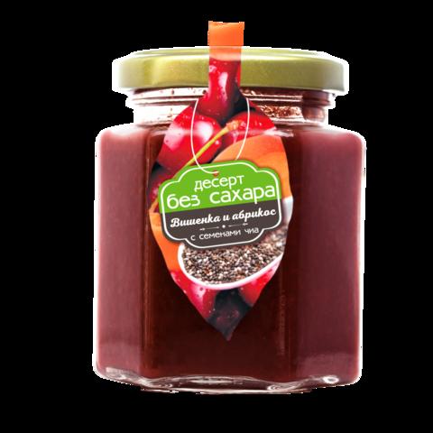 Десерт без сахара: черная вишня и абрикос с семенами чиа