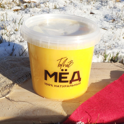 Мёд цветочный конца лета 2020 Ивановка  1 литр (1,4 кг)