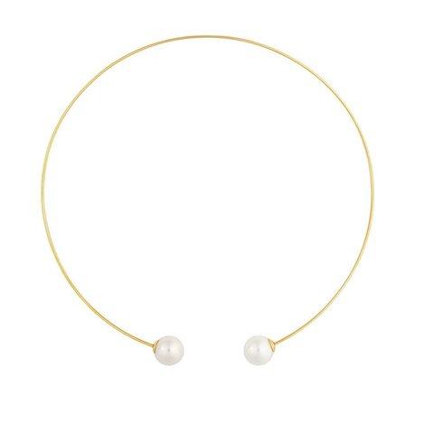 Колье White Pearl B0500.1 BW/G