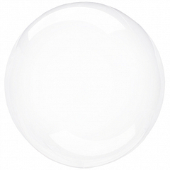 К 36''/86 см, Сфера, 3d Deco Bubble (Бабл), Кристалл, 1 шт. (В упаковке)